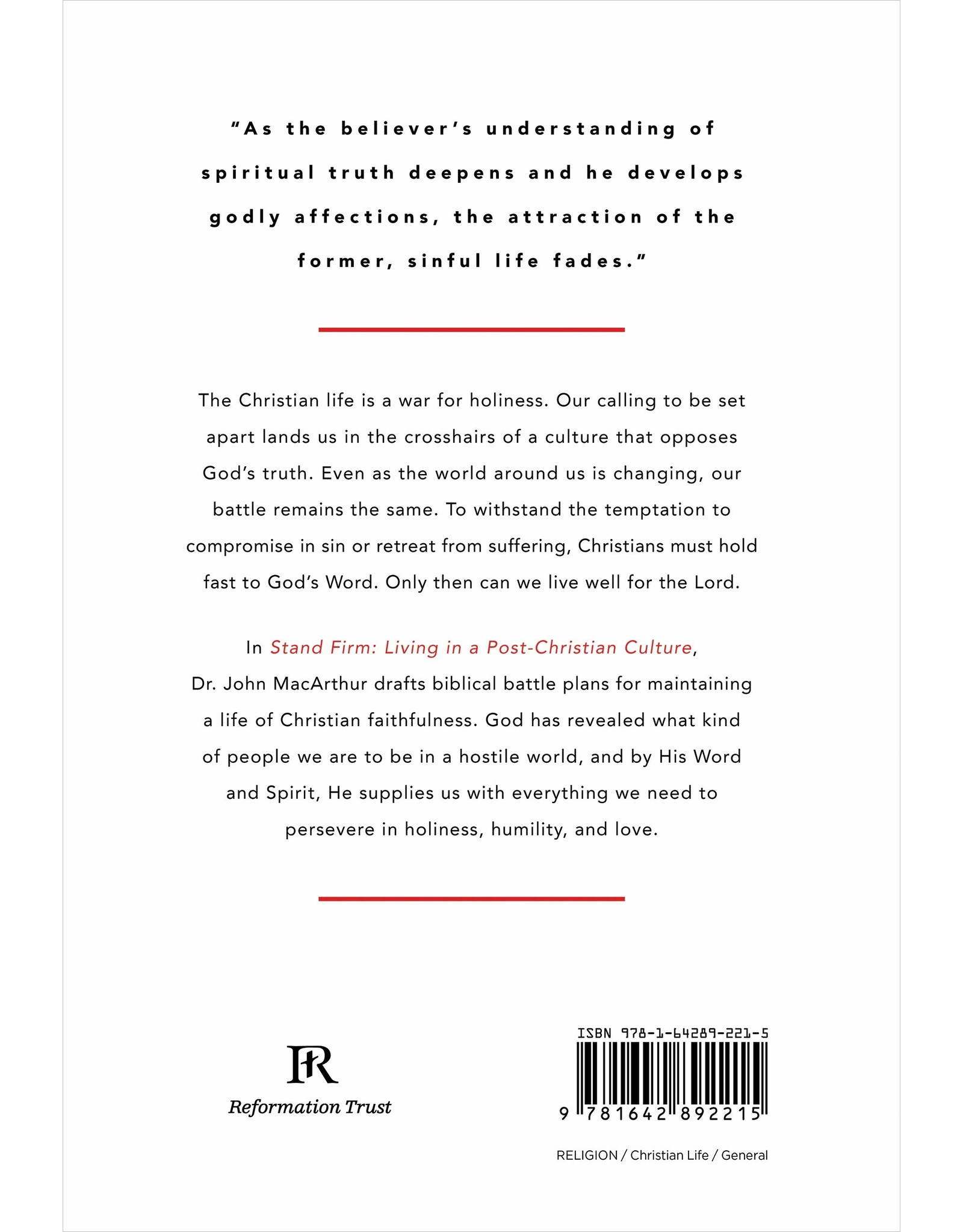 Ligonier / Reformation Trust Stand Firm: Living in a Post-Christian Culture