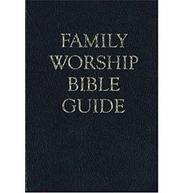 Reformation Heritage Books (RHB) Family Worship Bible Guide - Black Leather