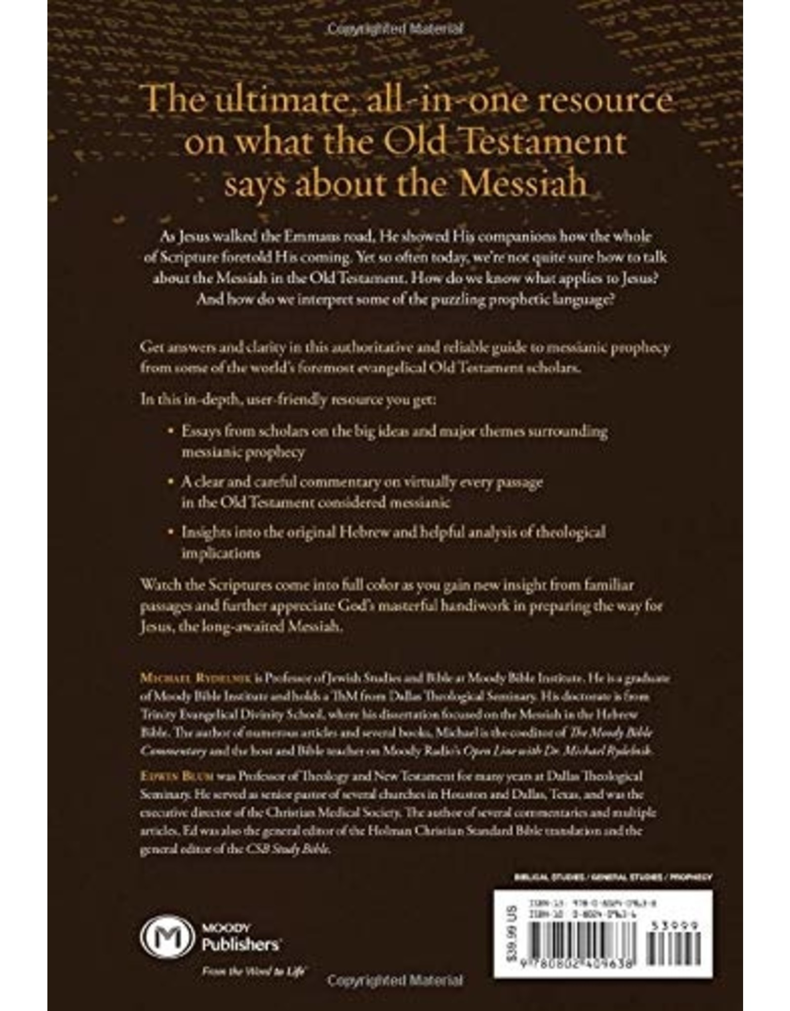 Moody Publishers The Moody Handbook of Messianic Prophecy: Studies and Expositions of the Messiah in the Old Testament