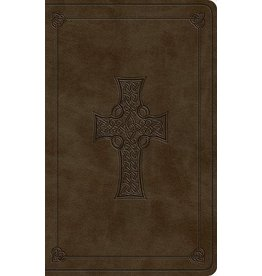 Crossway / Good News ESV Vest Pocket New Testament with Psalms and Proverbs (Trutone, Olive, Celtic Cross)
