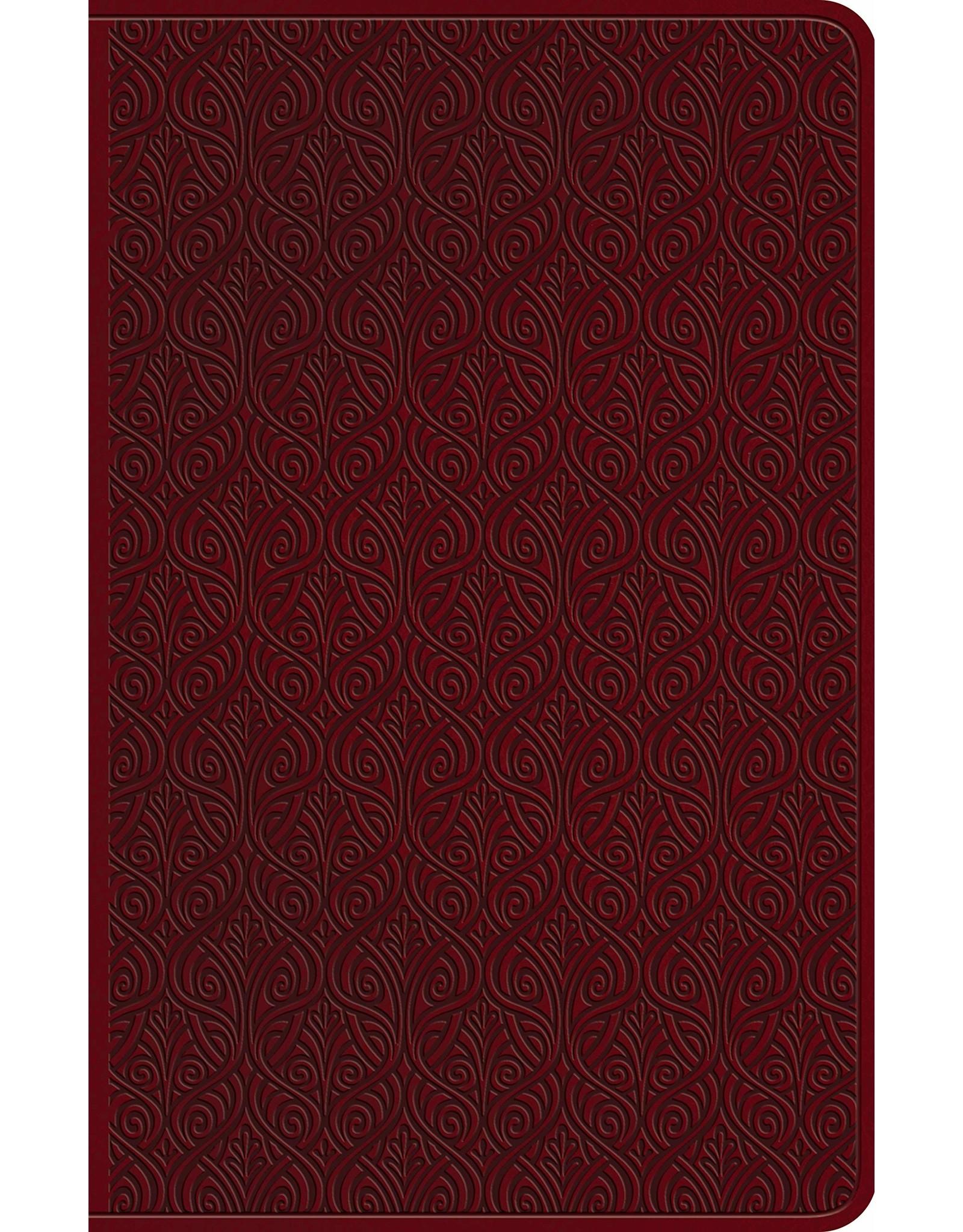 Crossway / Good News ESV Premium Gift Bible-Ruby Vine Design TruTone