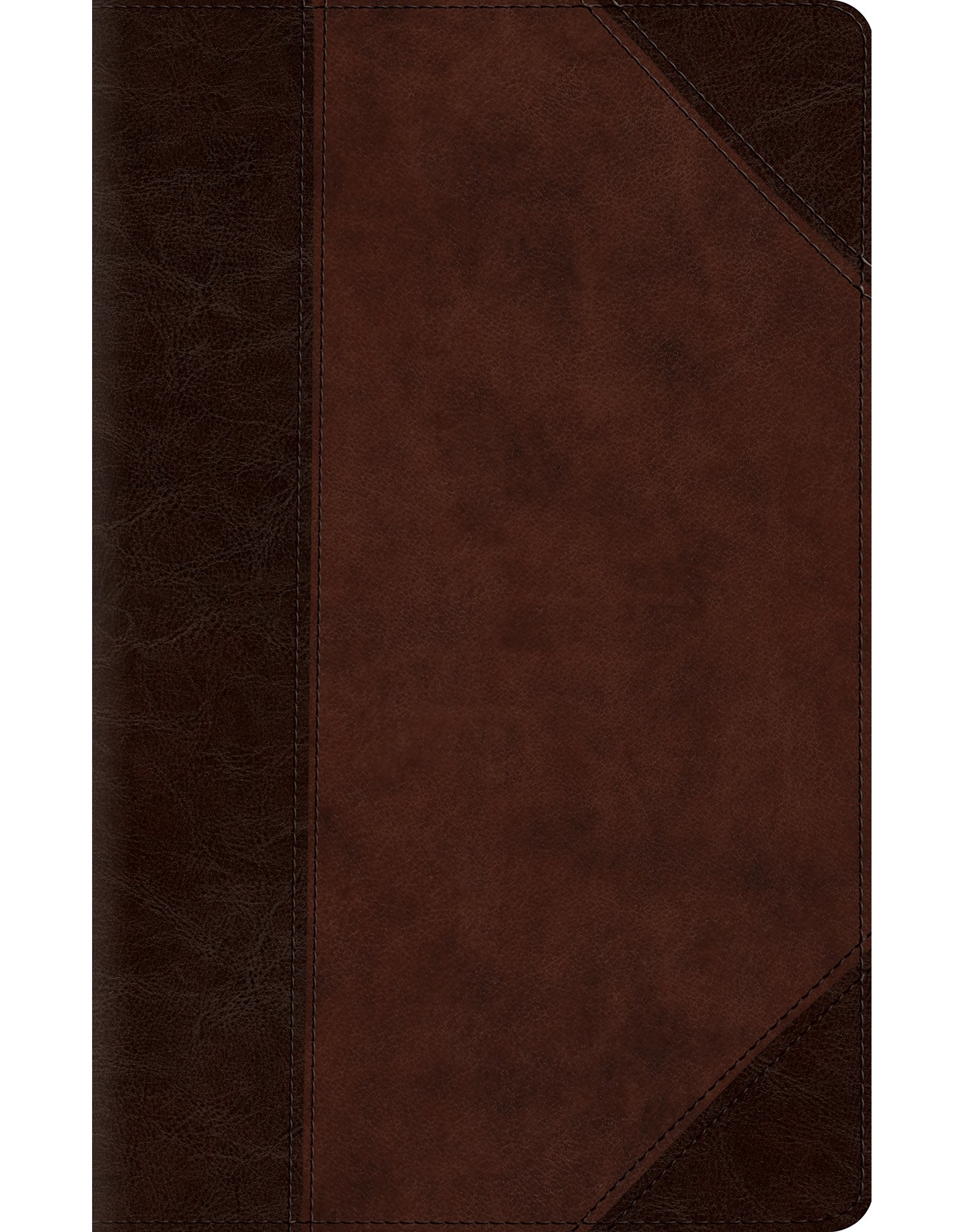 Crossway / Good News ESV Large Print Compact Bible (TruTone, Brown/Walnut, Portfolio Design)