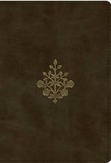 Crossway / Good News ESV Large Print Compact Bible (TruTone, Olive, Branch Design)