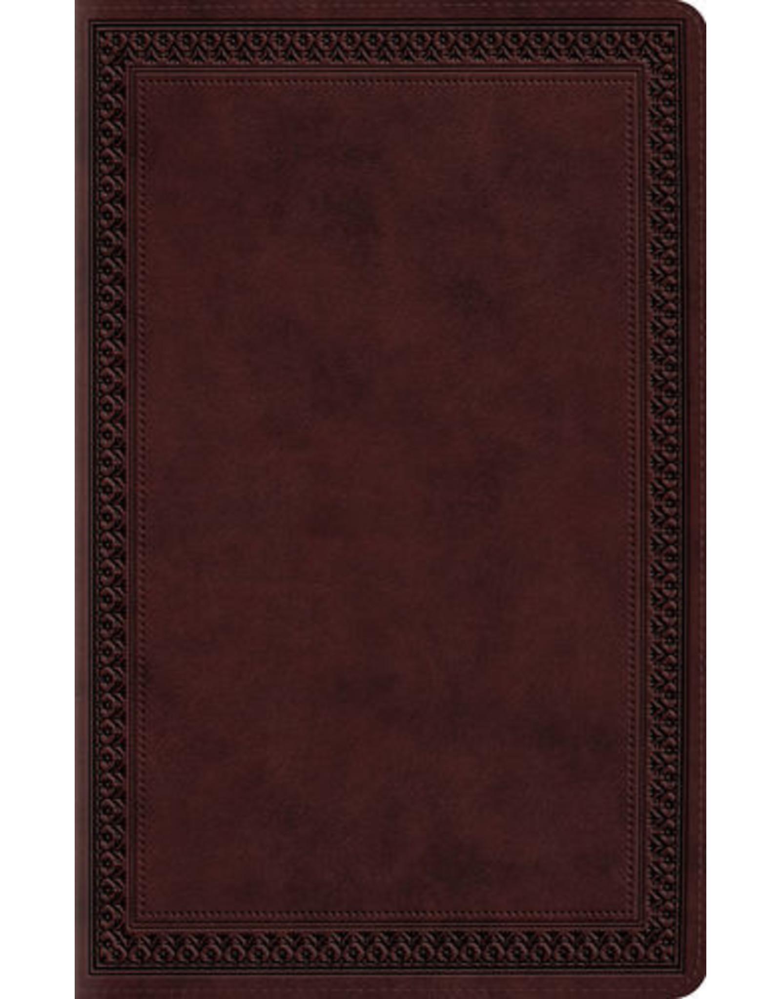 Crossway / Good News ESV Large Print Value Thinline Bible (TT Mahogan)