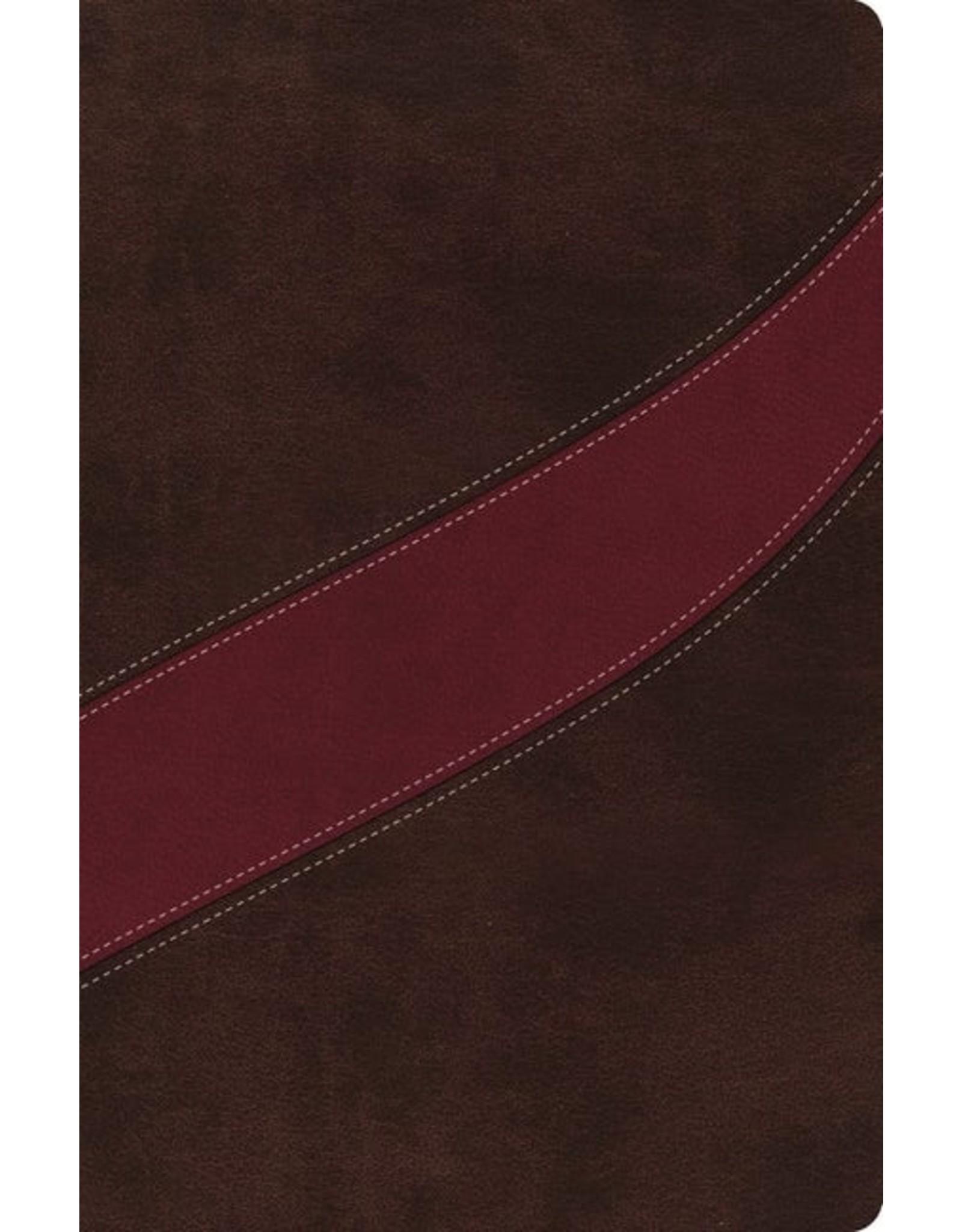 Harper Collins / Thomas Nelson / Zondervan MacArthur Study Bible: NASB Cranberry/Brown, Leathersoft
