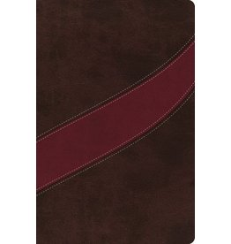 Harper Collins / Thomas Nelson / Zondervan MSB: NASB Cranberry/Brown, Leathersoft
