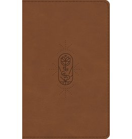 Crossway / Good News ESV Kid's Thinline Bible - Brown The True Vine Design TruTone