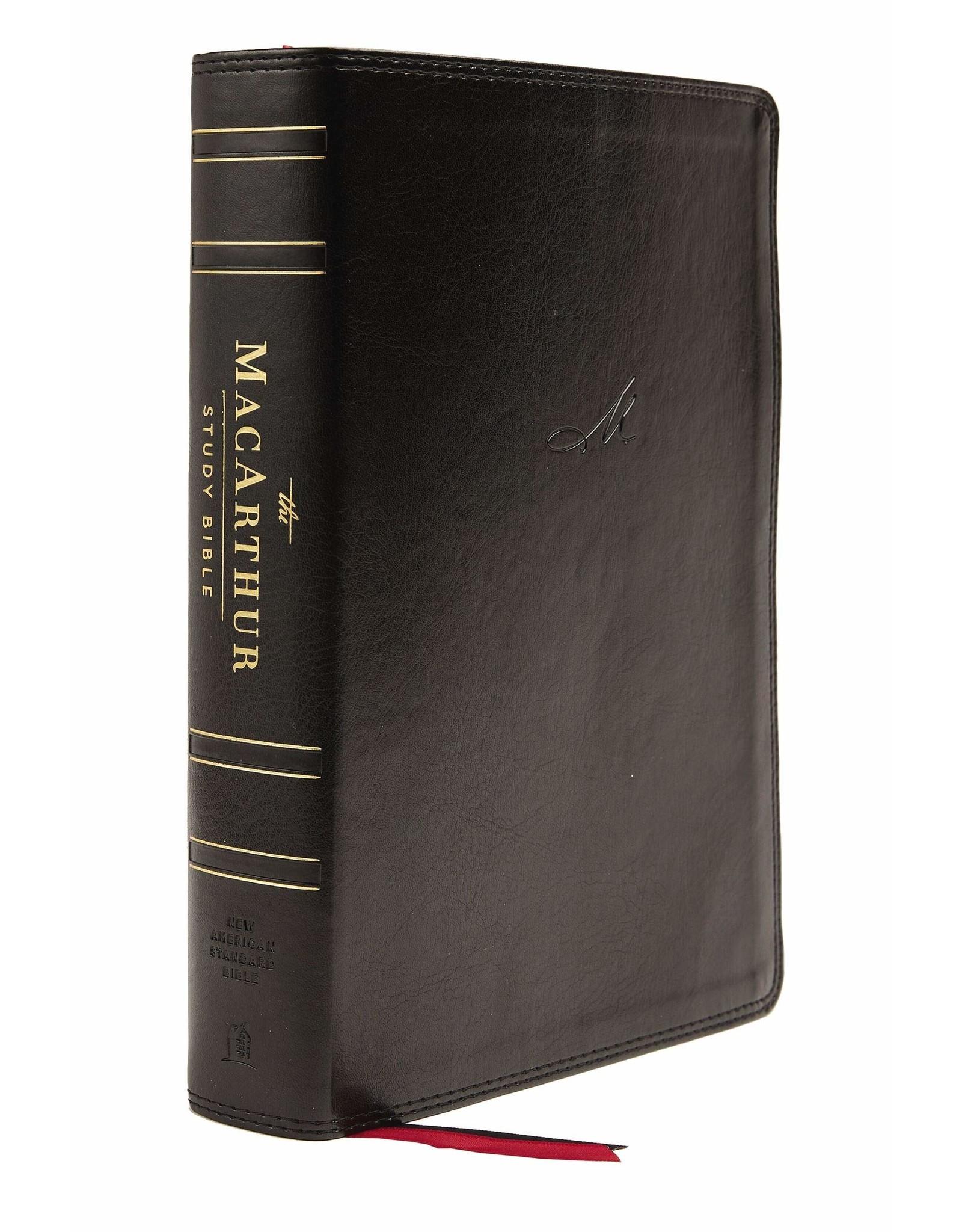 Harper Collins / Thomas Nelson / Zondervan NASB, MacArthur Study Bible, 2nd Edition, Leathersoft, Black, Comfort Print