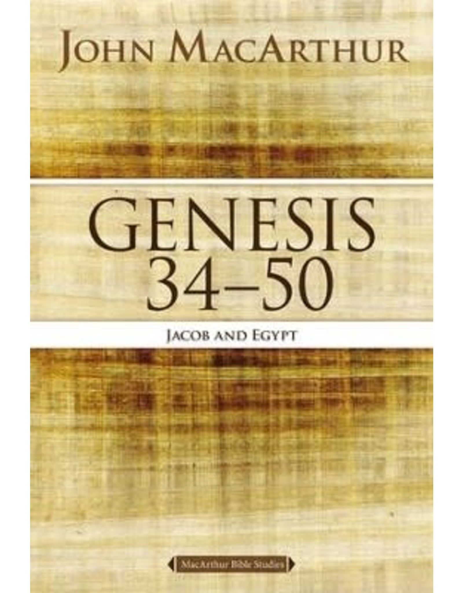 Harper Collins / Thomas Nelson / Zondervan MBS Genesis 34-50