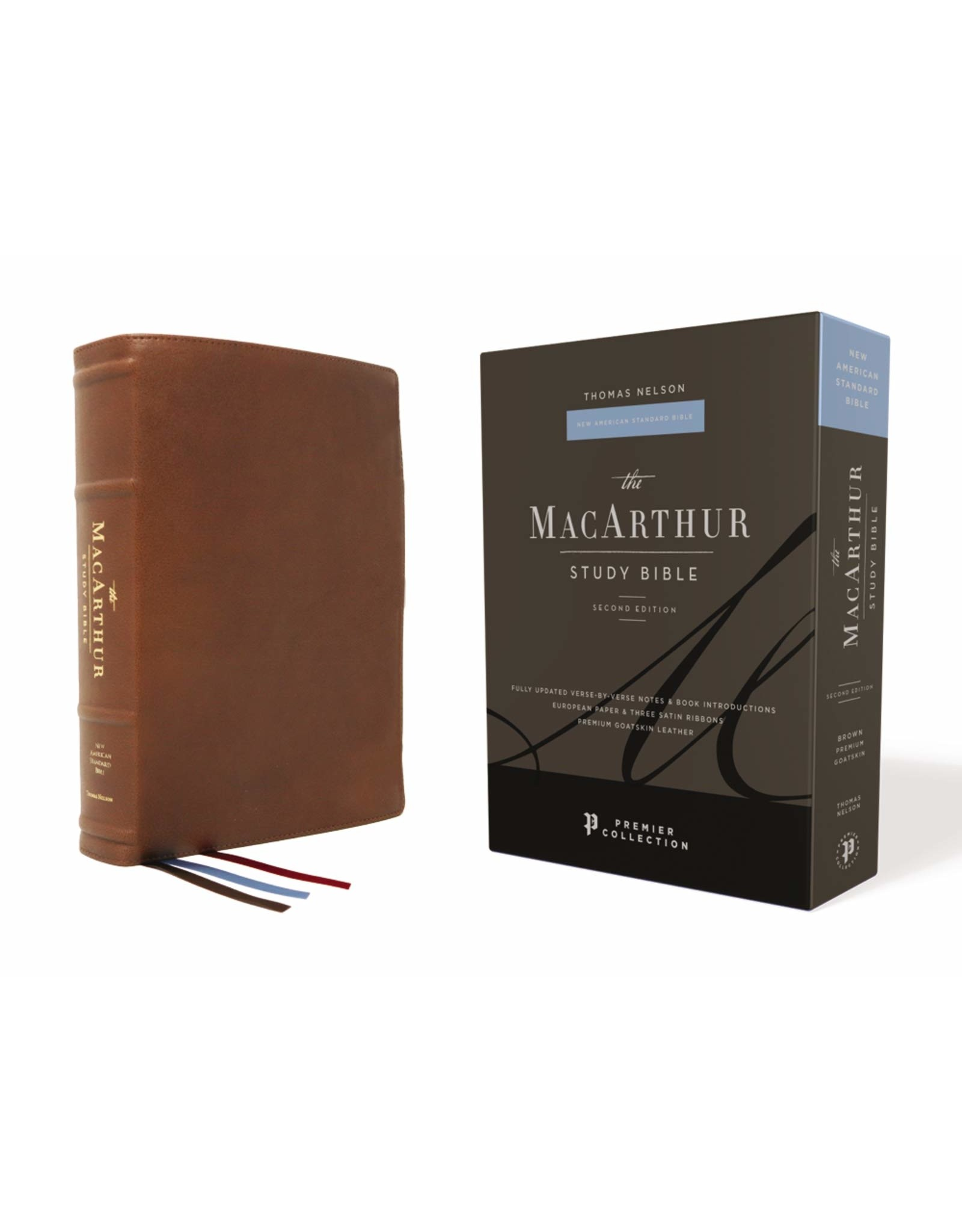 Harper Collins / Thomas Nelson / Zondervan NASB MSB MacArthur Study Bible (2nd Edition, Premium Goatskin Leather, Brown, Premier Collection)