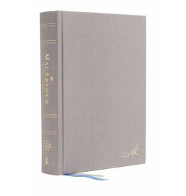 Harper Collins / Thomas Nelson / Zondervan NASB MSB MacArthur Study Bible (2nd Edition, Hardcover, Gray)