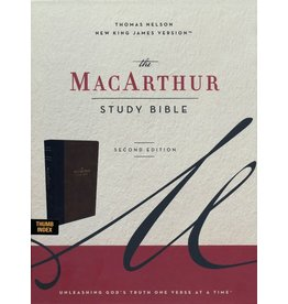Harper Collins / Thomas Nelson / Zondervan NKJV MacArthur Study Bible, 2nd Ed., Brown, Indexed