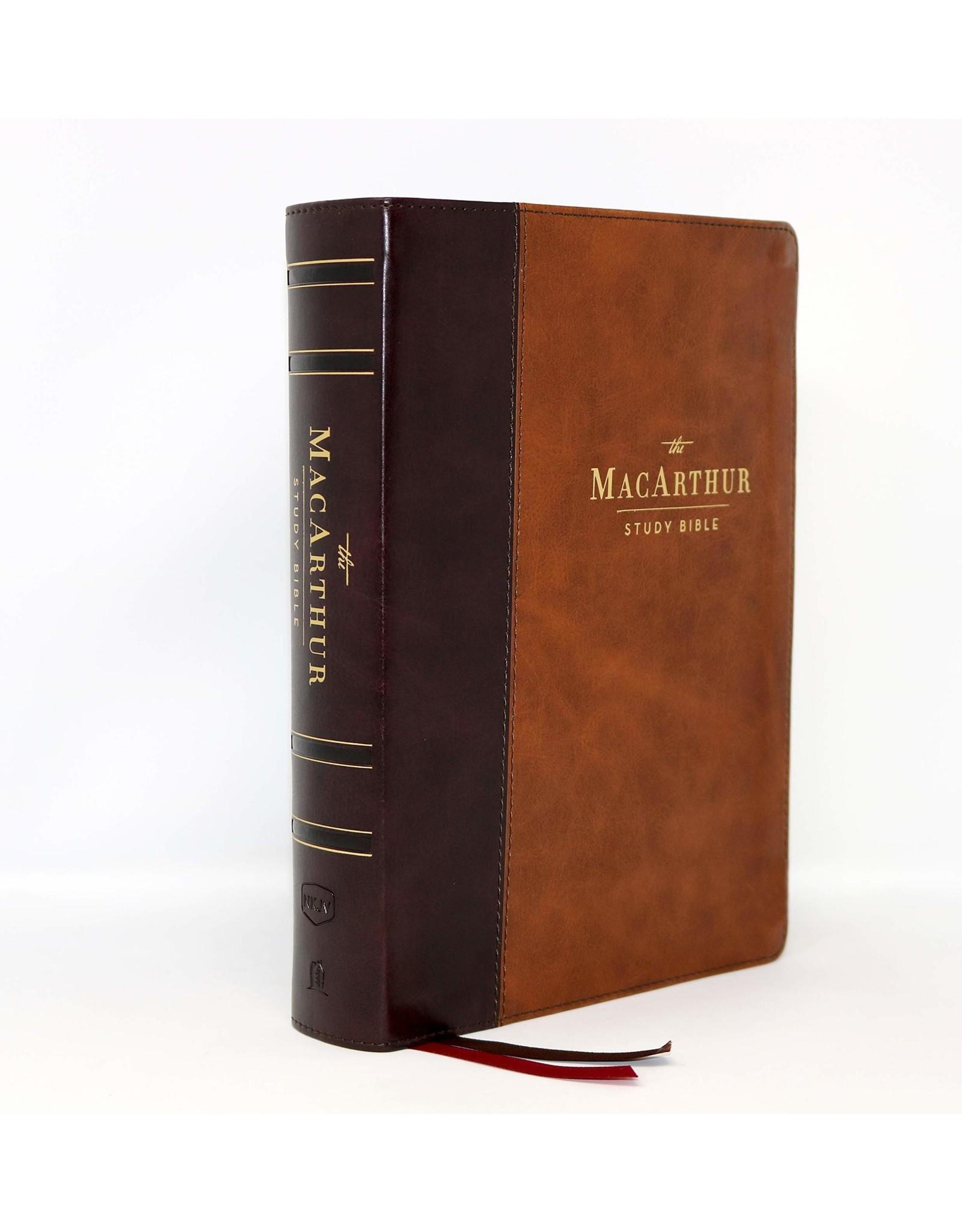Harper Collins / Thomas Nelson / Zondervan NKJV MacArthur Study Bible, 2nd Edition, Leathersoft, Brown, Comfort Print