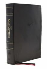 Harper Collins / Thomas Nelson / Zondervan NKJV MacArthur Study Bible, 2nd Edition, Leathersoft, Black, Comfort Print
