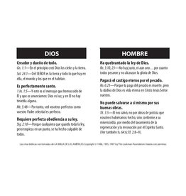 Span-Dios Hombre Christo Pecadores (God Man Christ Sinners) Tract 100-pack