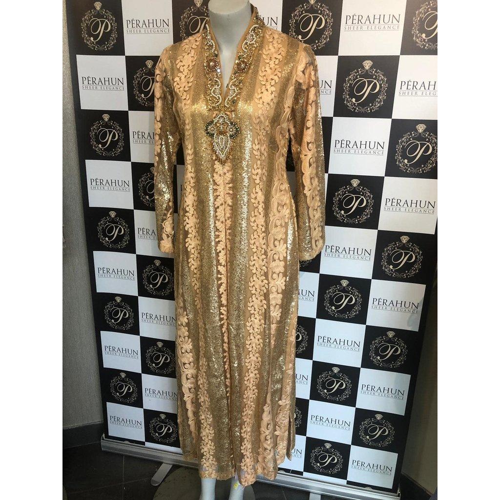 Waseem Noor WN014-Long dress net