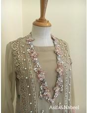 Asifa & Nabeel AAN03 - Gold Pearl Detail