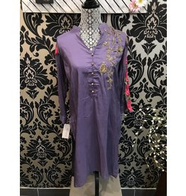 Agha Noor Purple with flowers Medium size