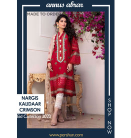 Annus Abrar Nargis Kalidaar Crimson