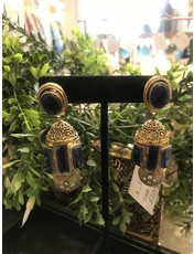 Perahun Gold with sapphire earing- 610503