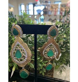 Perahun Emerald long earrings-635004
