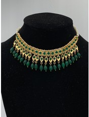 Perahun Hyderabadi square emerald necklace- PRB09