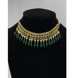 Perahun Hyderabadi square emerald necklace- PRB09