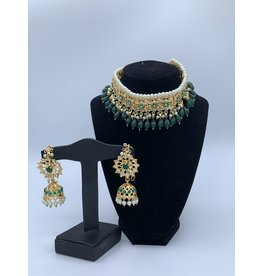 Perahun Hyderabadi Emerald stone jaraweelacha set- PRB06