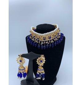 Perahun Hyderabadi Sapphire jaraweelacha set- PRB02