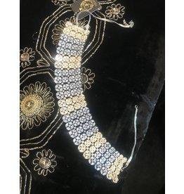 Perahun Silver stoned, black stone necklace set- 23270012