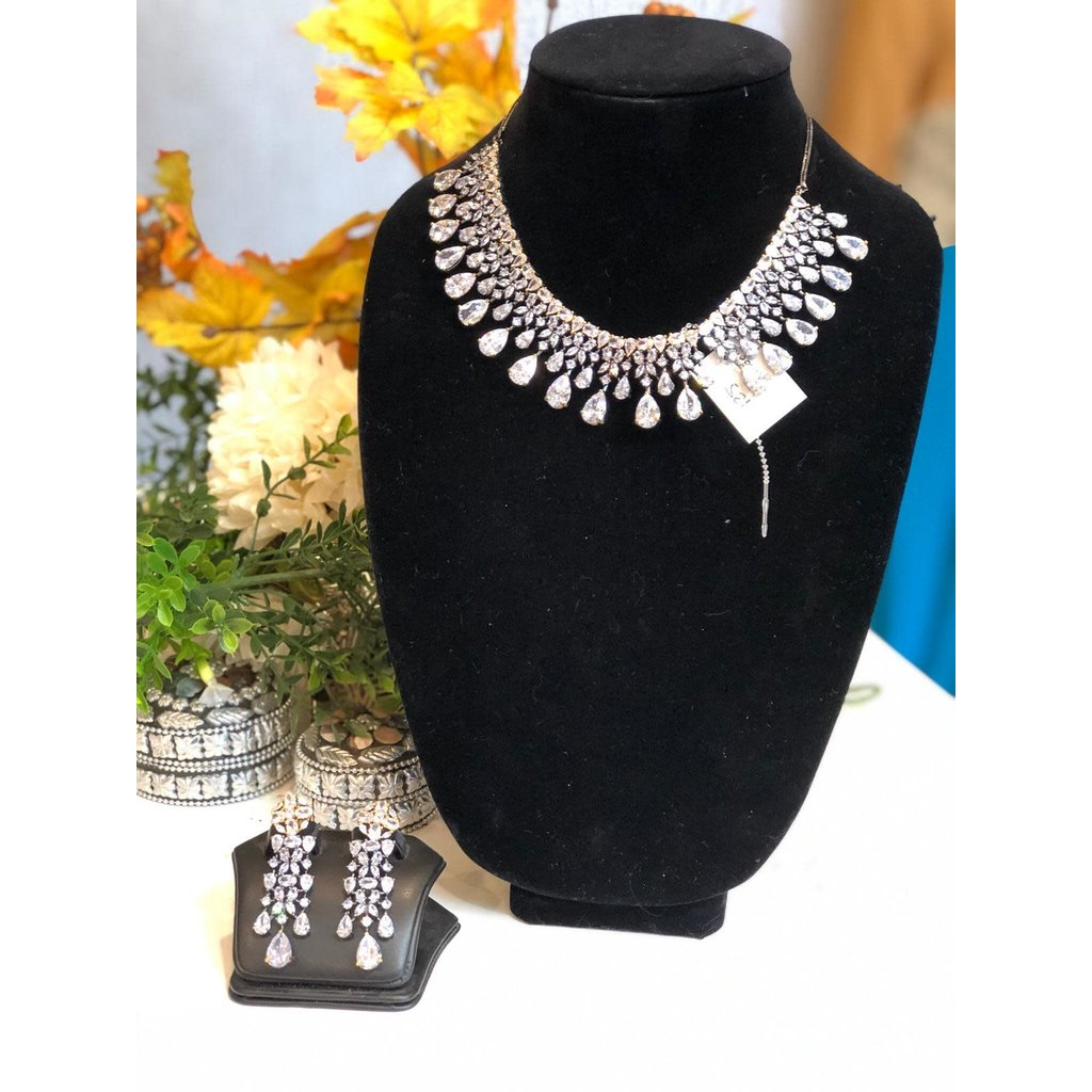 Perahun Silver necklace set-970003