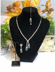 Perahun AD Emerald silver set and tikka-23270012