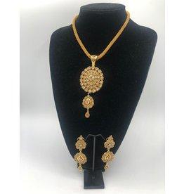 Nadia Chhotani Bronze gem necklace and earring set - ST384