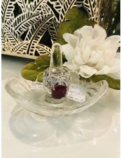 Nadia Chhotani Silver band and ruby jewel ring - R 1395