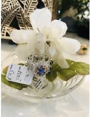 Nadia Chhotani Silver band saphhire flower ring - R 1595