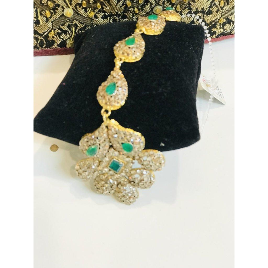 Nadia Chhotani Round emerald teeka - JTK 2046