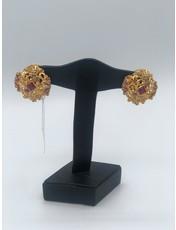 Nadia Chhotani Ruby square clip earrings - ER2082