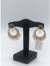 Nadia Chhotani Emerald flower hoop earrings - ER 2995
