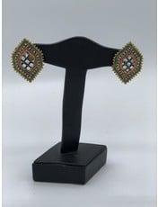 Nadia Chhotani Diamond shape meena tops - ER1339