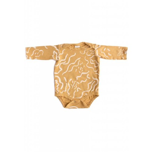 North of West Painted L/S Organic Onesie