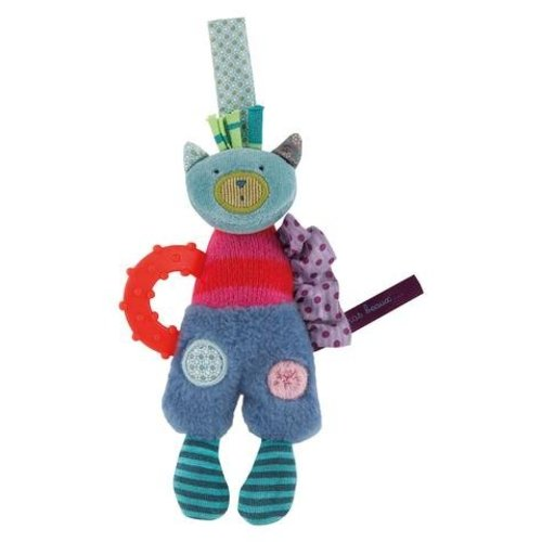 Moulin Roty Cat Ring Rattle - Les Jolis pas Beaux