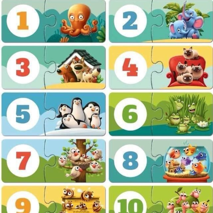 KSM Toys Puzzlika My Friends Counting Puzzle