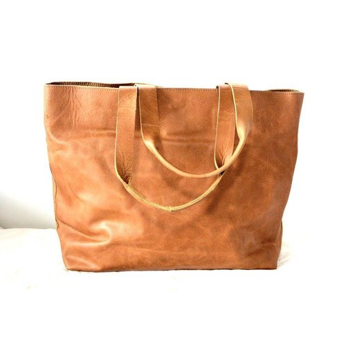 Tady Brown Leather Diaper Bag