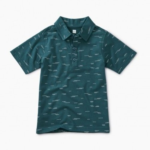 Tea Patterned Polo