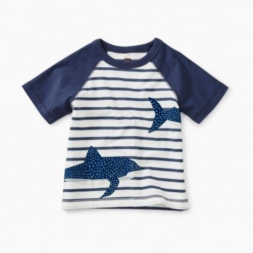 Tea Shark Raglan Baby Graphic Tee