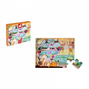Janod 20pc Tactile Puzzle - A Day at the Zoo