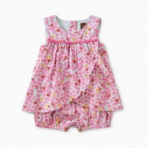Tea Ditsy Romper Dress