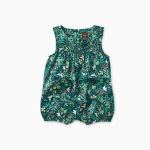 Tea Smocked Ruffle Romper