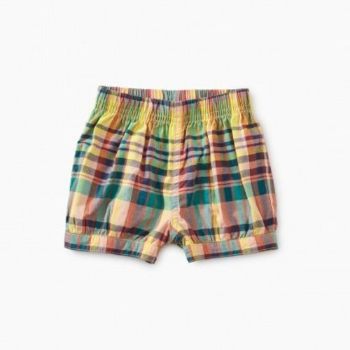 Tea Madras Bubble Shorts