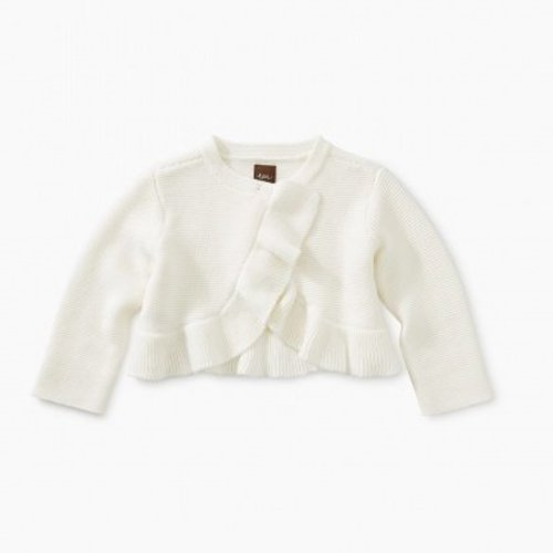 Tea Ruffle Baby Sweater Cardigan